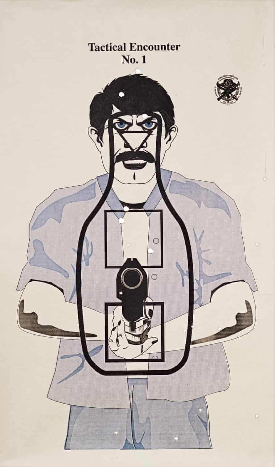 Here, a brain surgeon, 45, and his son, 16, used a 50 calibre pistol and a Luger 9mm pistol. Dad shot at the brain and his son shot at the body
