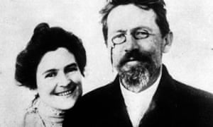 Unlikely couple … Anton Chekhov with his wife Olga Knipper.