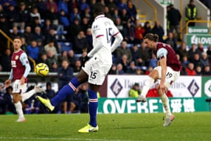 Burnley's Jay Rodriguez scores their first goal.