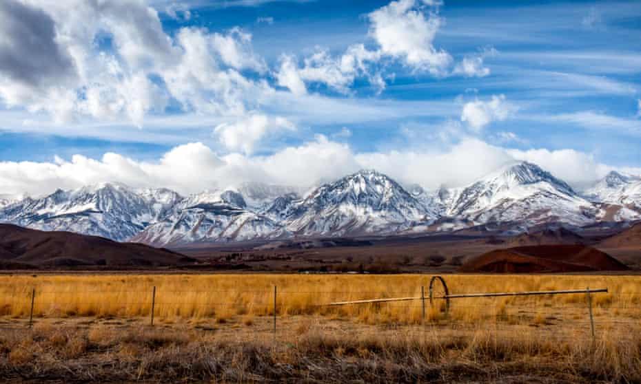 Sierra Nevada mountains … Vlautin's landscsapes ring with a sound akin to desolation. Photograph: Alamy