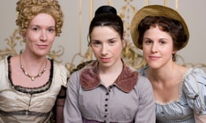 (l to r) Julia Davis as Elizabeth, Sally Hawkins as Anne and Amanda Hale as Mary in the ITV adaptation of Persuasion.