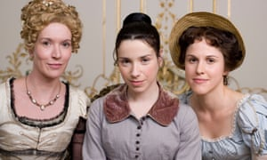 Julia Davis as Elizabeth, Sally Hawkins as Anne and Amanda Hale as Mary in ITV's adaptation of Persuasion.