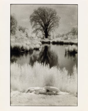 One of a pair of silver prints from the Rising Goddess series, by Cynthia MacAdams, 1984 and 1988