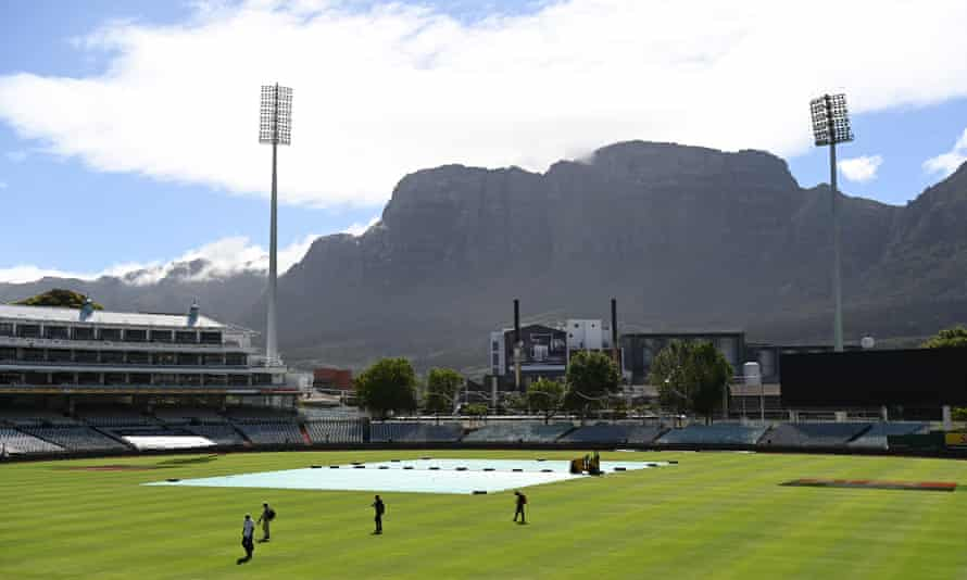 Staff leave Newlands Cricket after the announcement that the ODI series between South Africa and England had been called off.
