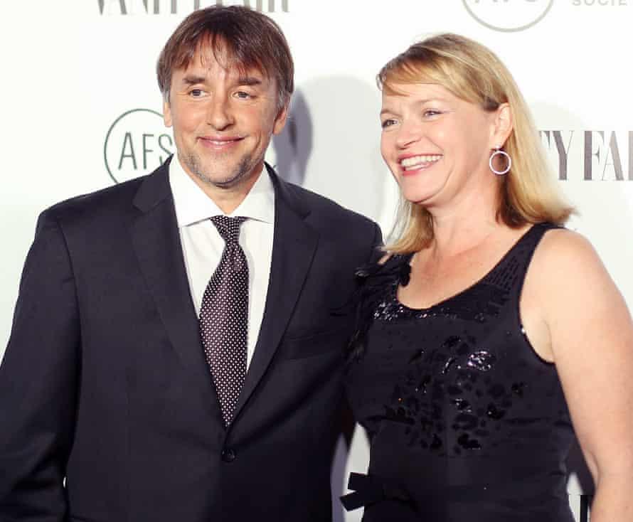 Richard Linklater with his partner, Christina Harrison