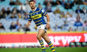 Jarryd Hayne in his days as an NRL player. He subsequently played in the NFL and rugby sevens and has now reportedly switched to football.