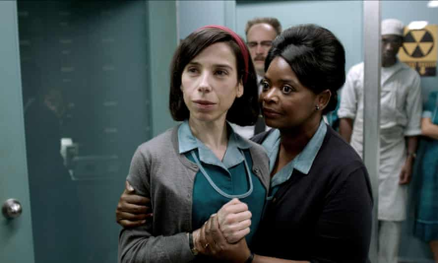 Sally Hawkins and Octavia Spencer in The Shape of Water, directed by Guillermo del Toro.