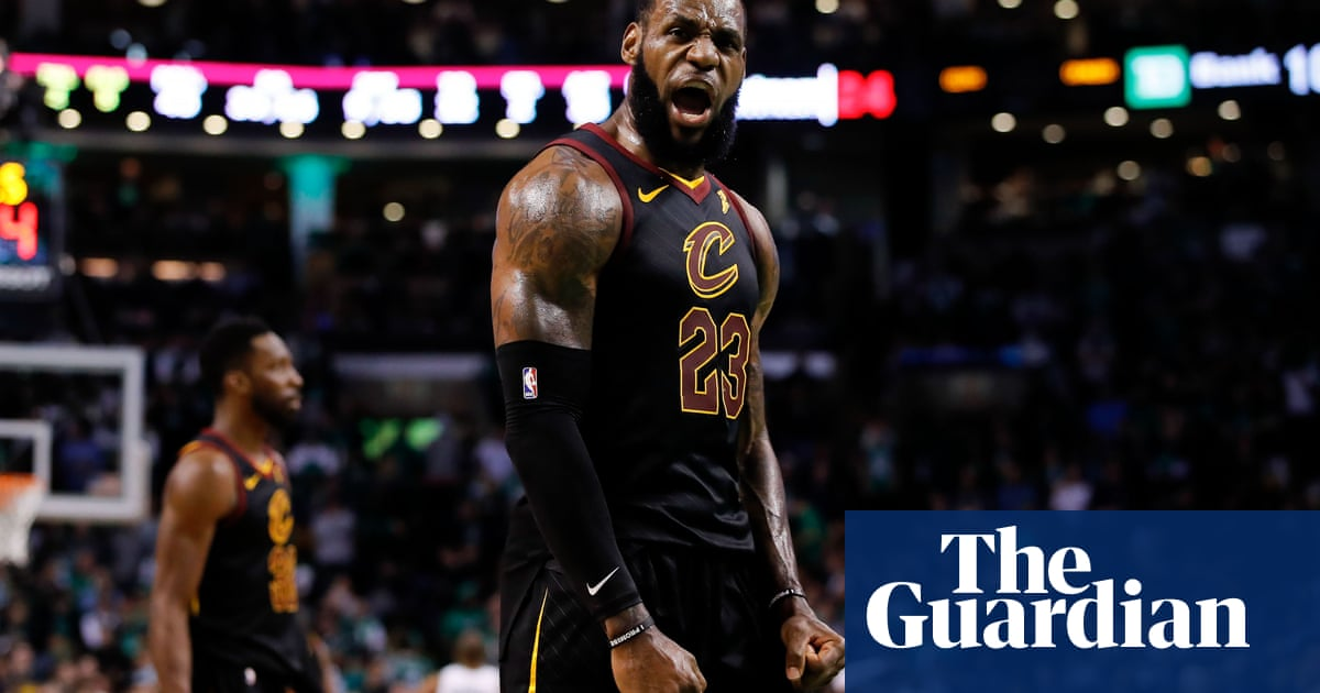 b14fd30baa9 Dazzling LeBron James carries Cavaliers past Celtics and into NBA finals
