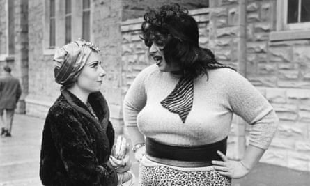 Dreamland regulars Mink Stole (left) and Divine in Multiple Maniacs.