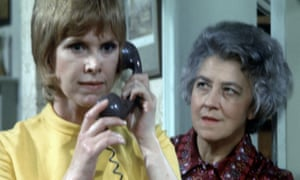 Valerie Lush, right, with Wendy Craig in an episode of And Mother Makes Three from 1972.
