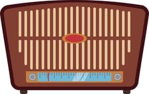 Vintage radio stereo icon vector illustration graphic
