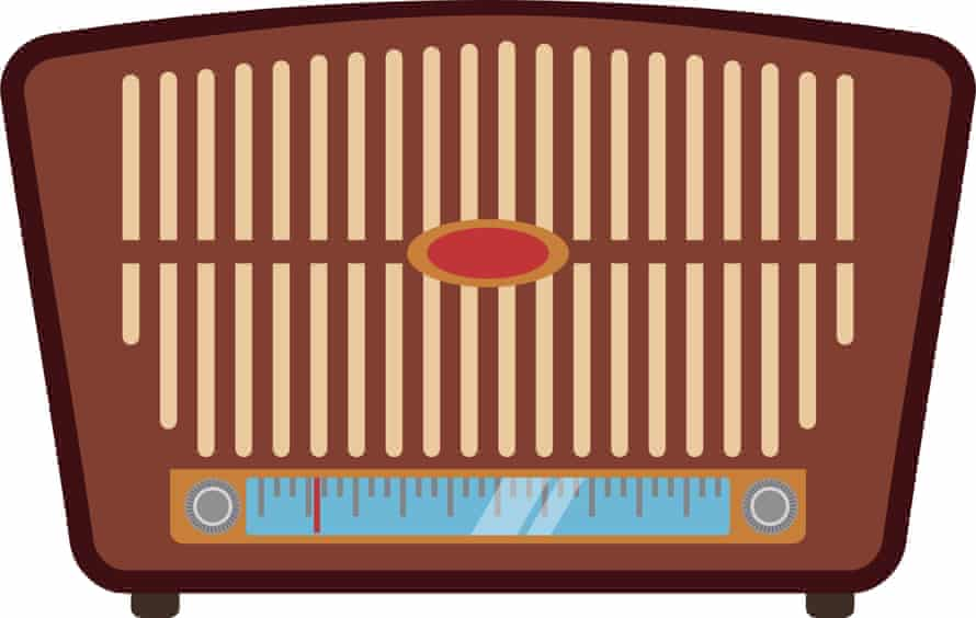 Vintage radio stereo icon vector illustration graphic