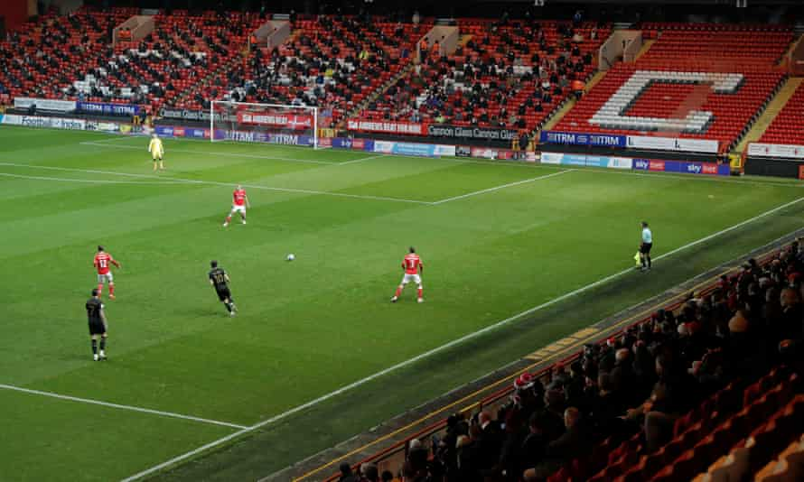 Fans returned to stadiums for the first time on Wednesday, including here at Charlton, but the financial challenges remain acute for clubs.