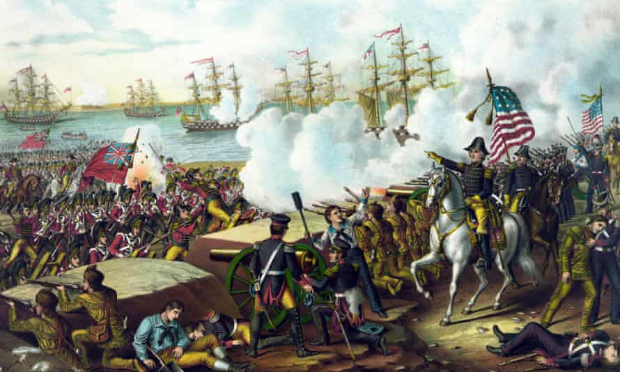 Illustration of the battle of New Orleans, 1815.