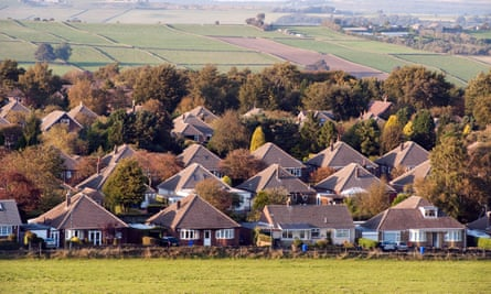 Bungalows on the edge of the green belt in Sheffield