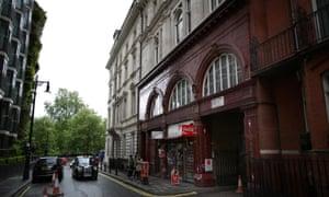 Down Street station exterior