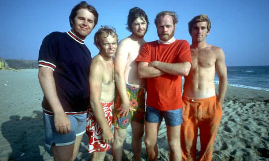 From left, Carl Wilson, Al Jardine, Brian Wilson, Mike Love and Dennis Wilson of the Beach Boys.