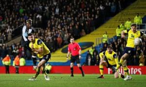 Allan Saint-Maximin fires in Newcastle's third.