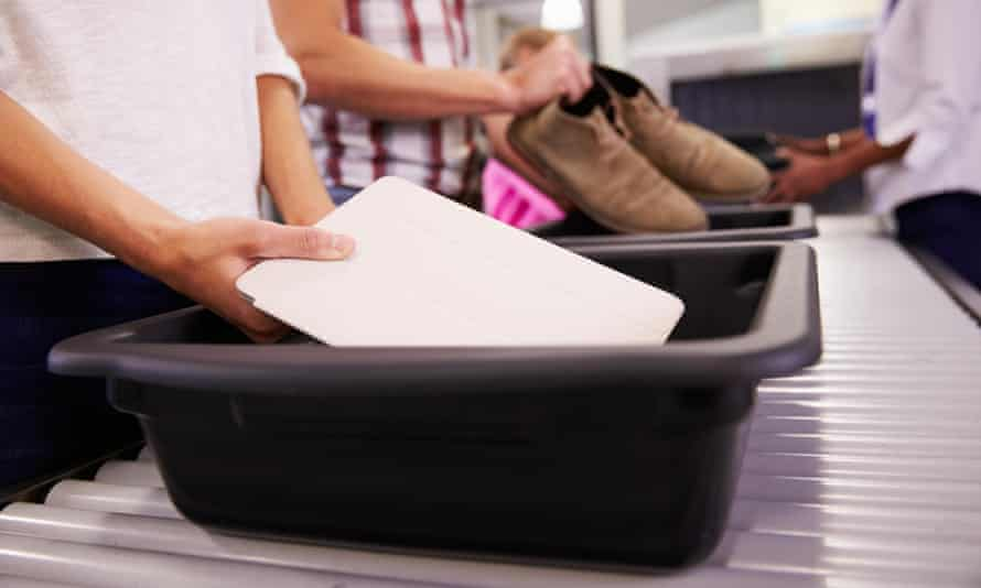 Tablet at airport security