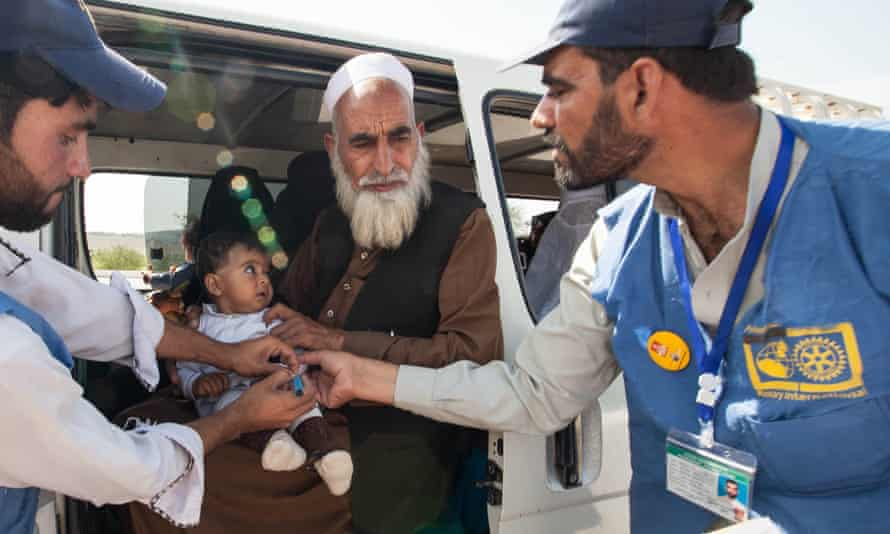 A vaccination drive in Pakistan