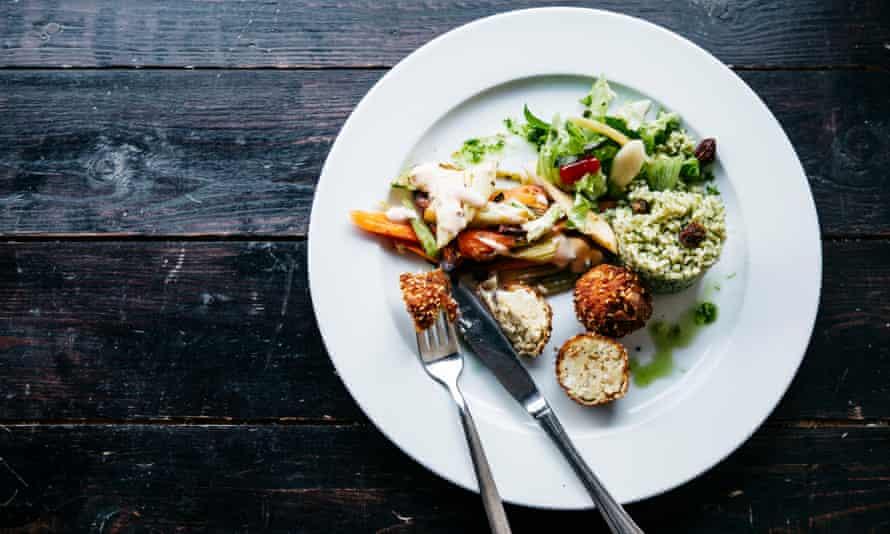 A delicious veggie main course at Restlos Glücklich