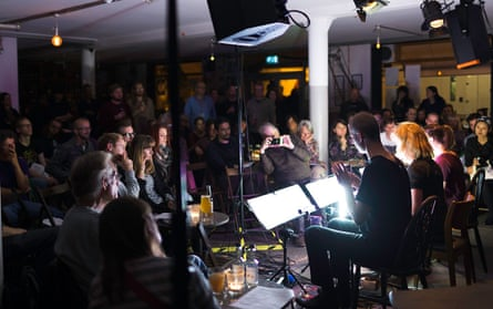 A performance at Cafe Oto as part of the 2015 Cut & Splice festival.