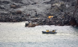 The operation to recover bodies from White Island after a volcanic eruption.