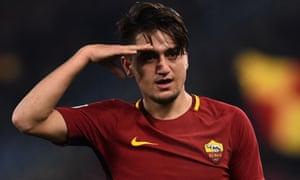 Cengiz Under's salute after scoring against Benevento.