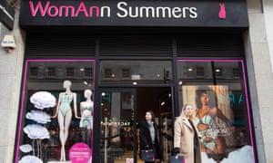 An Ann Summers shop in London is rebranded for International Women's Day.