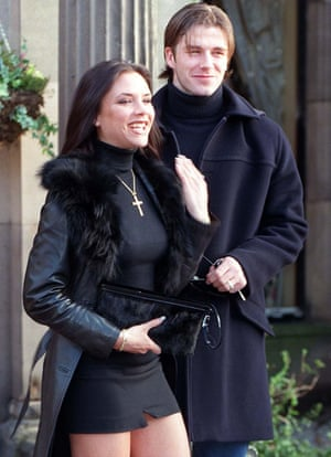 The couple announce their engagement in January 1998