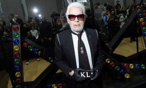 398addfe58 Karl Lagerfeld at Paris fashion week in 2018