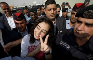 Amman, JordanThe Jordanian citizen Hiba al-Labadi after being released by Israel. She was held in administrative detention for nearly two months by Israeli authorities, reportedly without charges