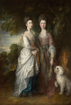 Very rarely seen portrait … Margaret and Mary Gainsborough (1770-74).