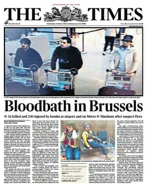 The front page of The Times (UK)