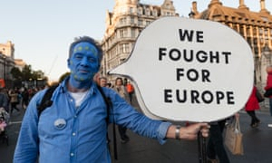 Anti-Brexit protesters take part in a rally in Parliament Square