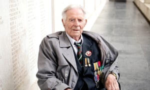 Harry Patch, who fought at Passchendaele, at the Menin Gate in 2007 at the age of 109