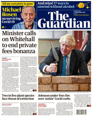 Guardian front page, Wednesday 30 September 2020