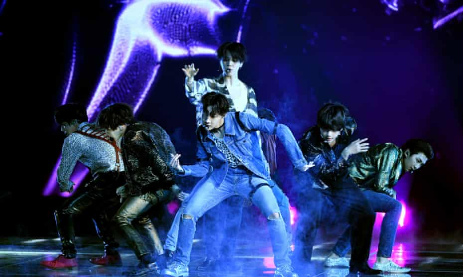 Music group BTS performs onstage during the 2018 Billboard Music Awards at MGM Grand Garden Arena on May 20, 2018 in Las Vegas