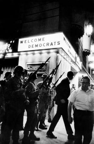 Welcome Democrats - Hilton Hotel, Michigan Avenue, the Democratic Convention, August 1968