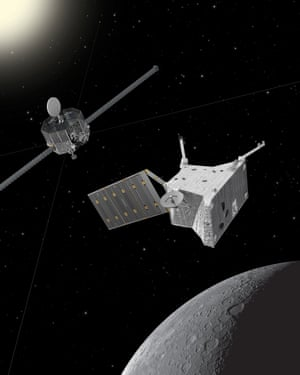 An artist's impression of the BepiColombo.