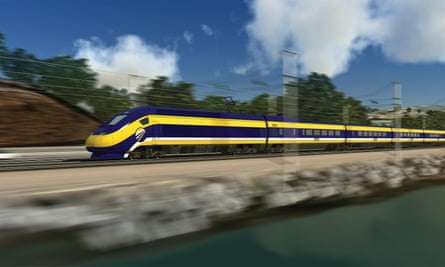 California's proposed high-speed rail network