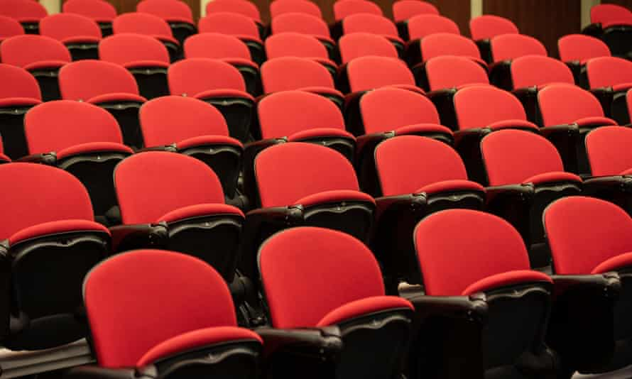An empty lecture hall at university in Perth