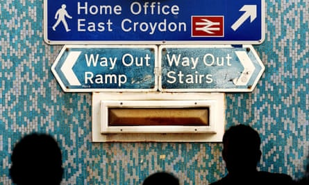 Sign to the Home Office's Lunar House in Croydon
