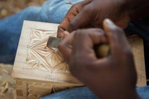 Wood carving curios made from Mulanje cedar