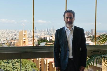 Lebanese MP Michel Moawad at his home in Baabda, Lebanon.