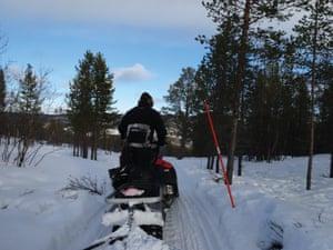 Knut's snowmobile in Karasjok, Norway