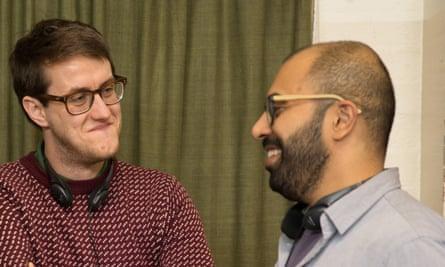 Harmonious relationships … screenwriter Nick Payne with the director, Ritesh Batra.