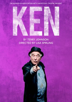 Poster for the play Ken at The Bunker in London