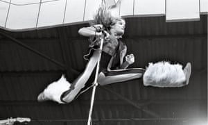 This look is Freddie, Bowie … and Spider-Man thrown in': David Lee Roth performs with Van Helen at the 1980 Pinkpop festival.
