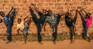 The Waka Starz practicing Kung-Fu